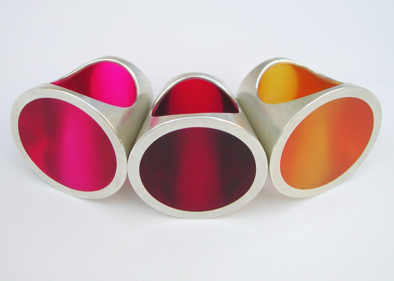 Kegelringe-Acryl-Silber