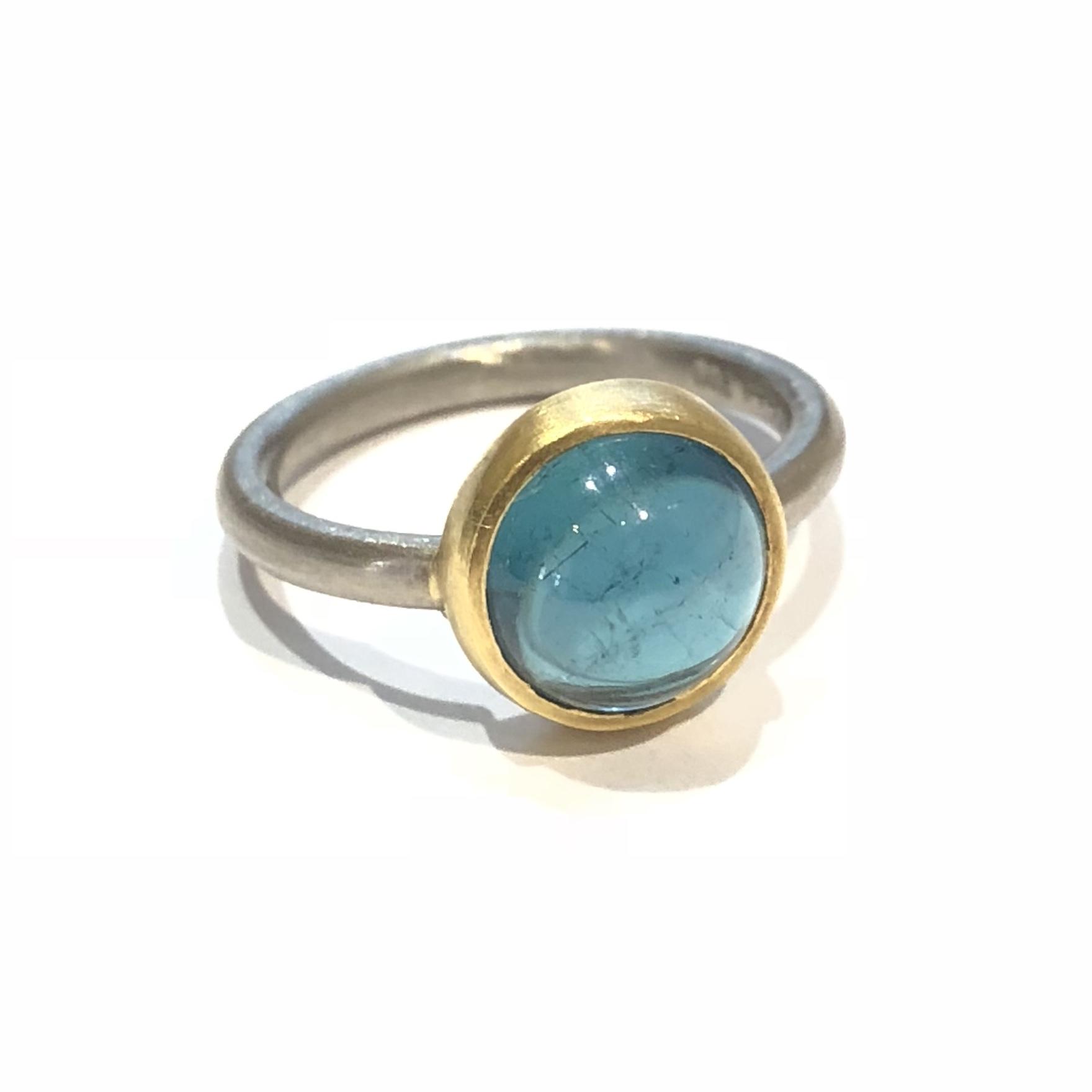 Ring-Gelb-Gold-Blau-Stein