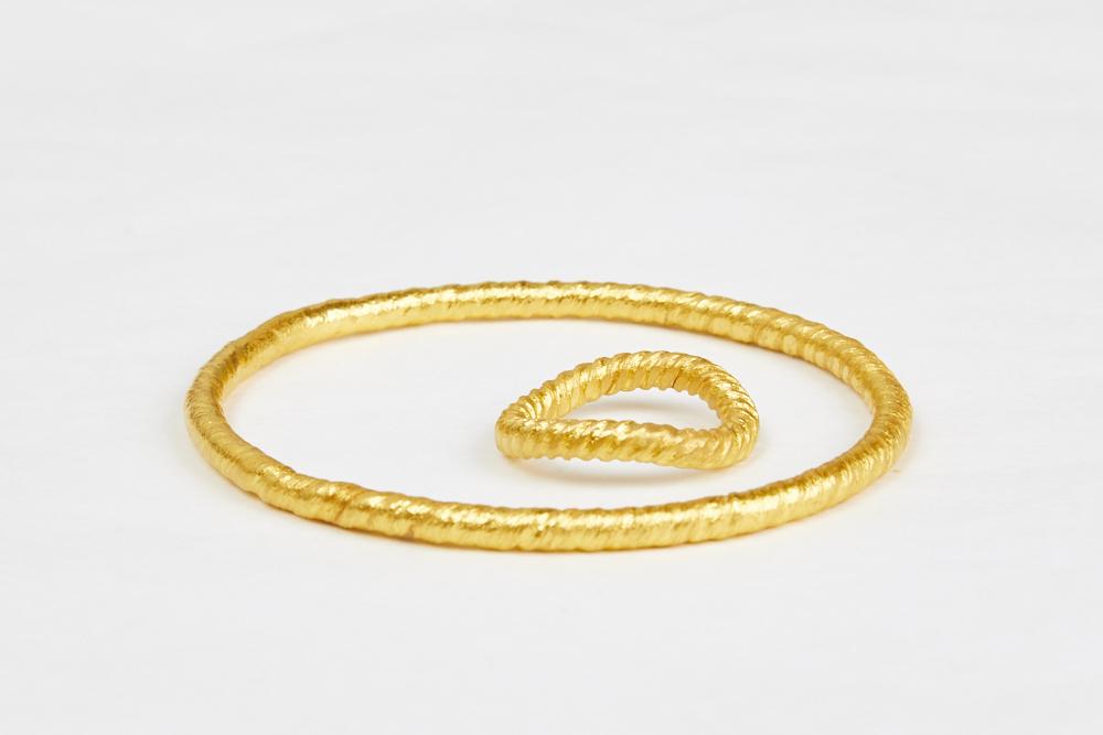 Feingold-Armreif-Ring