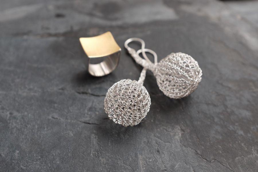 Ohrringe-Ring-Silber