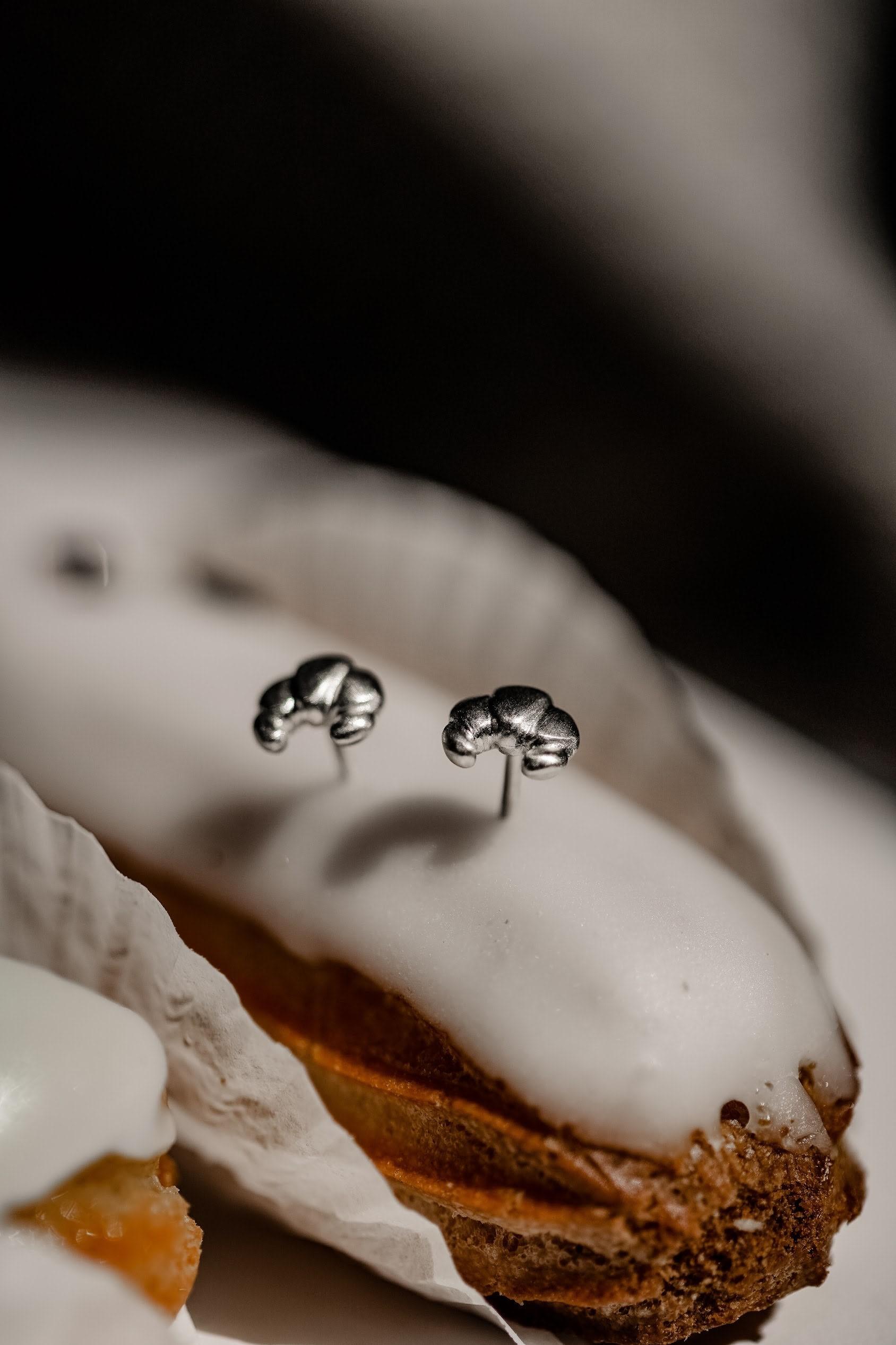 Ohrstecker-Croissant-Brioche