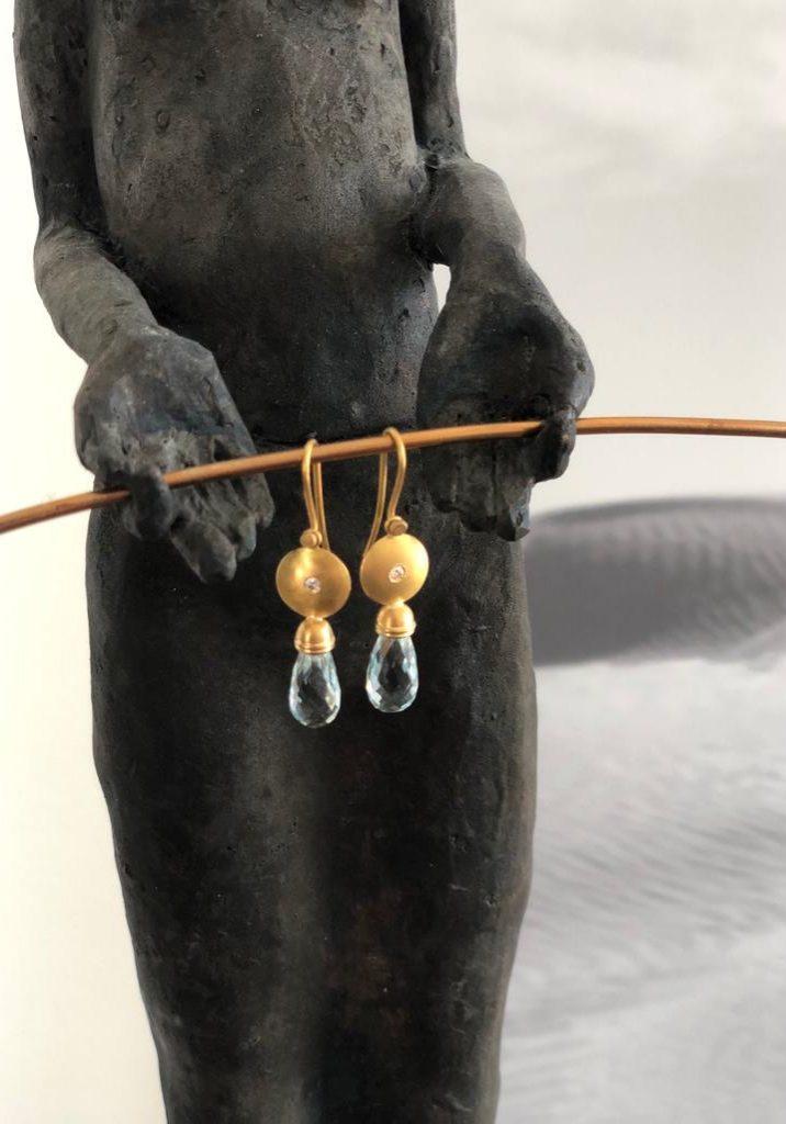 Ohrringe mit Topas Pampeln von Ivan Chevillotte