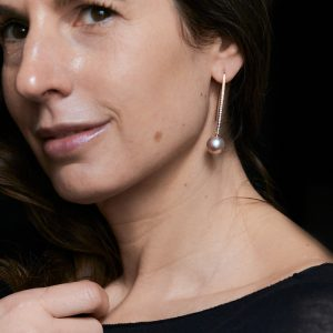 Ohrhänger mit Perlen und Brillanten