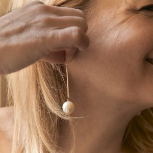 Gold Ohrringe Sticks Perlen