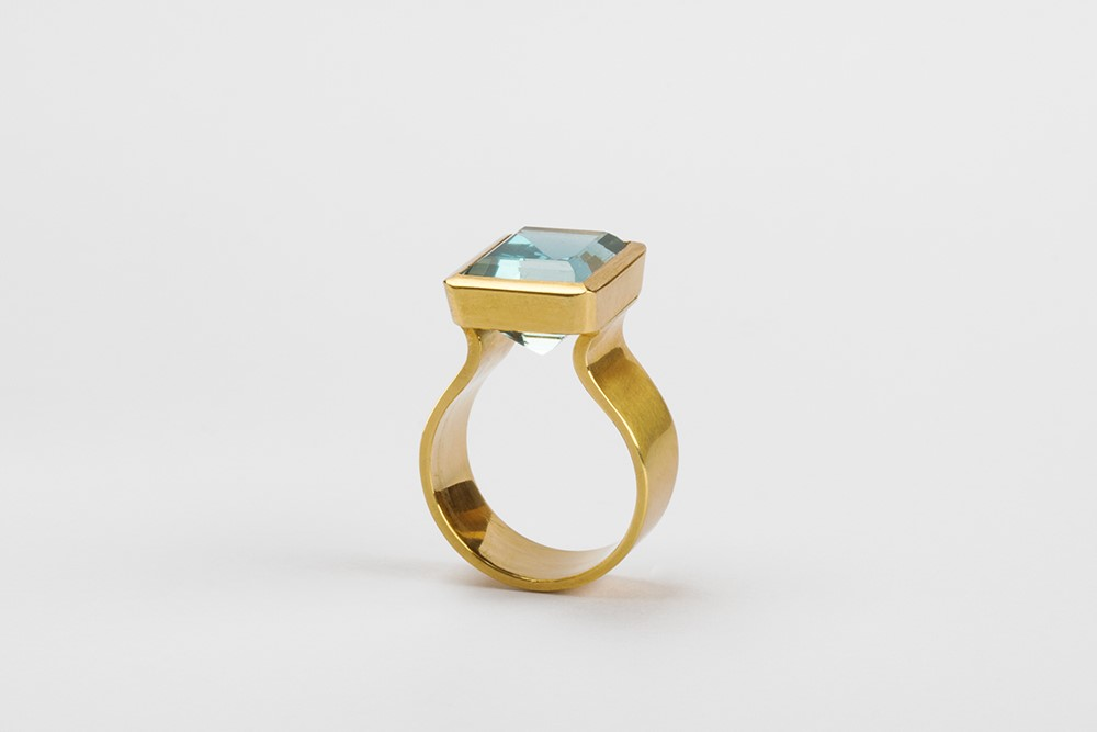 Ring-Aquamarin