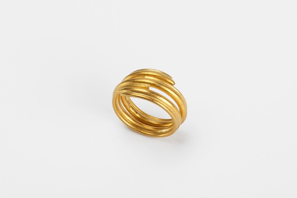Ring-Kringel-Gelbgold