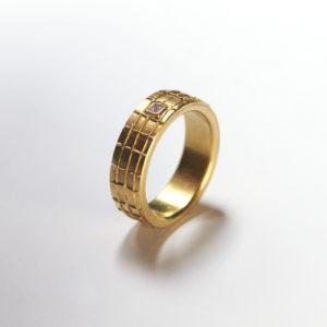 Ring, Gittermuster Diamant