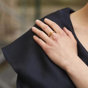 Ring Mandarin Granat, Diamanten