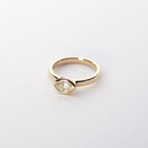 Ring navette Diamant