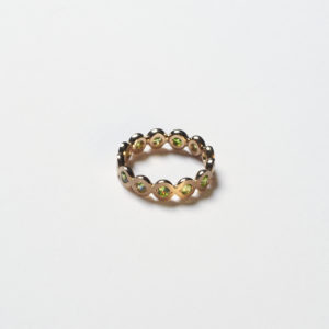 Ring mit grünen Demantoiden