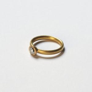 Ring Schale Altschliff Diamant