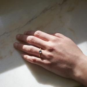 Ring Schale mit Mondstein