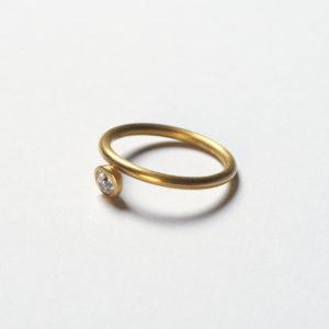 Ring 900 Gold mit Diamant