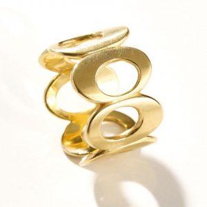 Gold Ring Sieben Ovale