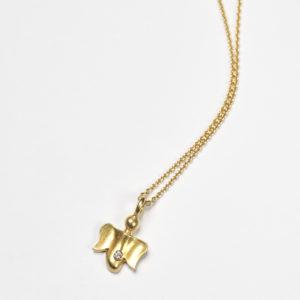 Kette Schutzengel 1, Gold, Diamant