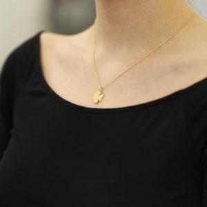 Kette Schutzengel 2, Gold