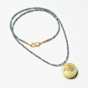 Collier Emaille Palme